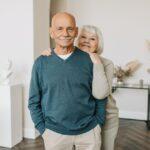Older couple smiling; senior living communities